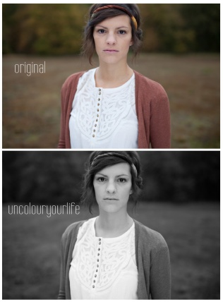 uncolouryourlife is a Photoshop Action File which change your picture into black and white. It added a vignete and change some colors and curves for a better b & w look. enjoy! Requirements: Adobe Photoshop CS4, CS5 or CS6. purchase/kaufen: uncolouryourlife